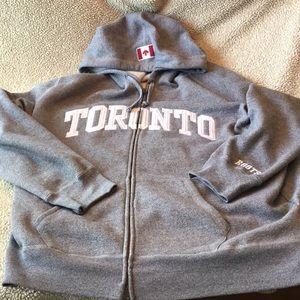 Men's zip up Roots Toronto hoodie size 2XL